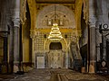 Vue du mihrab dans la salle de prière de la Grande Mosquée de Kairouan.jpg
