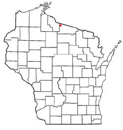 Vị trí trong Quận Vilas, Wisconsin