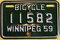 WINNIPEG MANITOBA 1959 -BICYCLE PLATE - Flickr - woody1778a.jpg