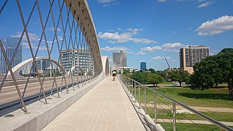 Fort Worth, Texas - W 7th bridge bikeway, 2015