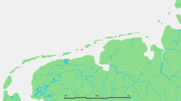 Location of Rottumeroog in the Wadden Sea