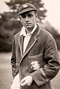 Image of Hammond in cricket kit