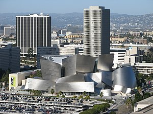 English: Walt Disney Concert Hall and surround...
