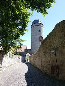Gate and Tower of the medieval town-fortification in Warburg