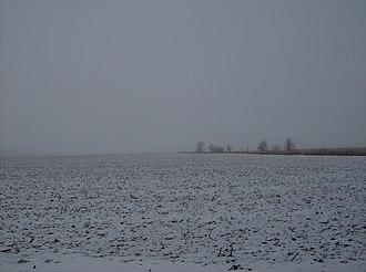 Warren Township, Clinton County, Indiana - Snowy countryside in flat Warren Township