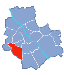 Location of Włochy within Warsaw