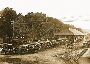 Waynesville, North Carolina - Waynesville Train Depot in Frog Level, c. 1890s