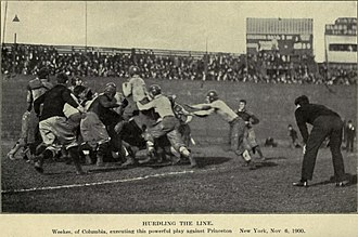 Harold Weekes - A week after Yale, Weekes hurdles the line against Princeton.