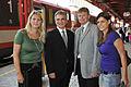 Werner Faymann und Laura Rudas vor einem Zug in Selzthal (2716665596).jpg