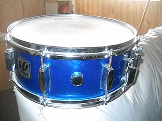 Snare drum - A blue snare drum