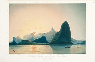 Westseite der Einfhart in die Bau von Rio de Janeiro den 5ten September 1842