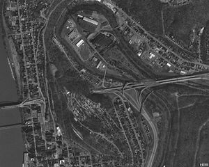 Interstate 70 in West Virginia - Image: Wheeling Tunnel overview 1994