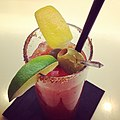 Why yes, that IS a bacon and pork rind rimmed bloody mary...thanks for noticing. (6997040232).jpg