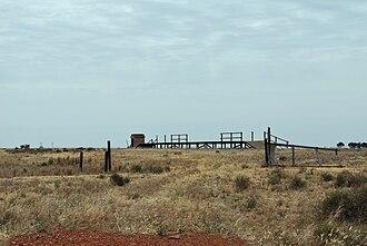 Widgiewa, New South Wales - Abandoned rail siding at Widgiewa