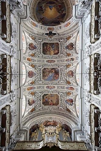 Dominican Church, Vienna - Frescoes of Matthias Rauchmiller