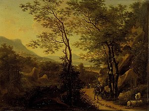 Willem de Heusch - Mountainous Landscape in Italy