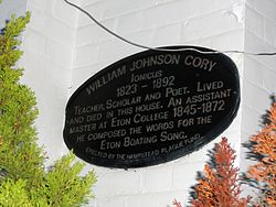 William johnson cory plaque