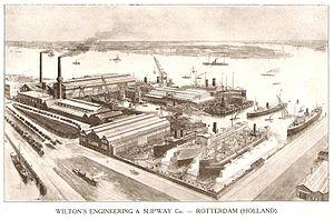 Machine industry - Wilton machine factory and shipyard, c. 1918