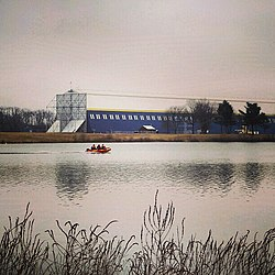 Wingfoot Lake and the Goodyear Airship Hangar