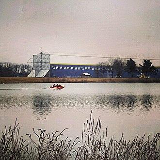 Suffield Township, Portage County, Ohio - Wingfoot Lake and the Goodyear Airship Hangar