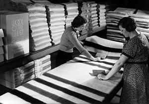Portland Woolen Mills - Two female employees of the Portland Woolen Mills circa 1940s