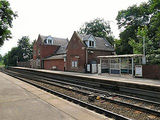 Woodley railway station Railway station in Greater Manchester, England