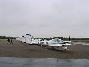 Grob Tutor at RAF Woodvale
