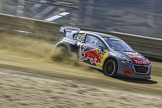 Team Peugeot Total - Timmy Hansen at the 2018 World RX of Portugal