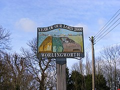 Worlingworth Village Sign - geograph.org.uk - 1055157.jpg