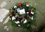 Wreath at the Titanic Memorial in Holyrood Church, Southampton.jpg