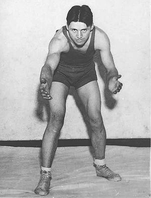 Norman Borlaug - Norman Borlaug wrestling at the University of Minnesota