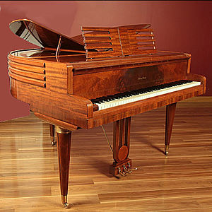 Wurlitzer - Wurlitzer Butterfly Art Deco Deluxe 88 key piano - Model 1411