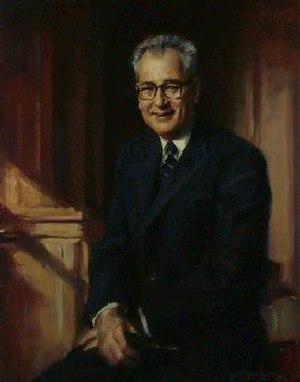 W. Willard Wirtz - The official portrait of W. Willard Wirtz hangs in the Department of Labor