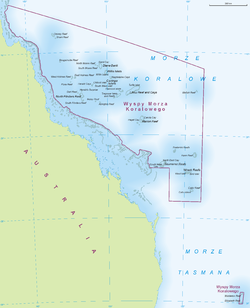 Location of Coral Sea Islands