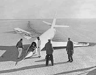 Bell X-2 - Image: X 2 with Collapsed Nose Wheel GPN 2000 000398