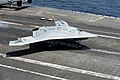 X-47B makes its first arrested landings aboard ship (9256087325).jpg
