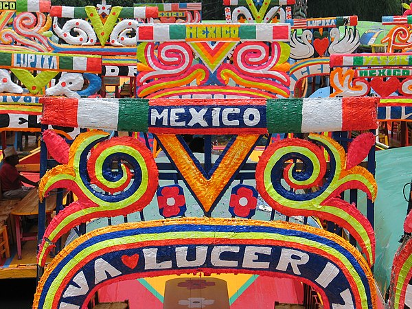 Xochimilco colorful boats.JPG