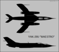 Yakovlev Yak-28U two-view silhouette.png