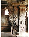 Yali pillars in mantapa of Rameshwara temple at Keladi.jpg