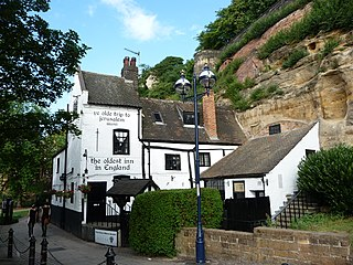 Ye Olde Trip to Jerusalem Pub and tourist attraction in Nottingham