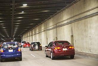 Yerba Buena Tunnel - Image: Yerba Buena tunnel, San Francisco Bay Bridge, going east, to Oakland (9671027093)