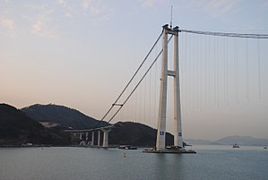 Yi Sun-sin Bridge - Image: Yi Sun sin Bridge in construction 2