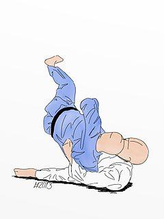 Yoko guruma Judo technique
