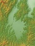 Yonezawa Basin Relief Map, SRTM-1.jpg