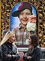 Young Women with Advertisement - Across from Maidan - Kiev - Ukraine (26386634634).jpg