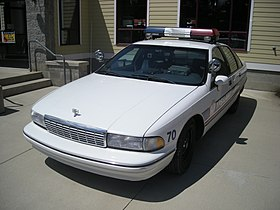 Ypsilanti Automotive Heritage Museum August 2013 35 (1991 Chevrolet Caprice 9C1 Police Package).jpg