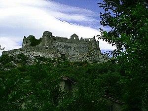 Žabljak Crnojevića - Image: Zabjak Crnojevica hrad zalozeny v 14. stol na ostruvku v b