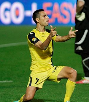 Eran Zahavi - Zahavi celebrating a goal for Maccabi.