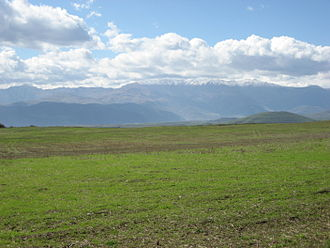 Climate of Armenia - View of the Zangezur Mountains from east of Goris, Armenia.