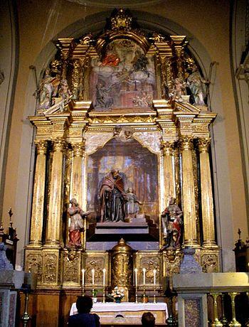 English: Retablo de la Capilla de San Joaquín,...